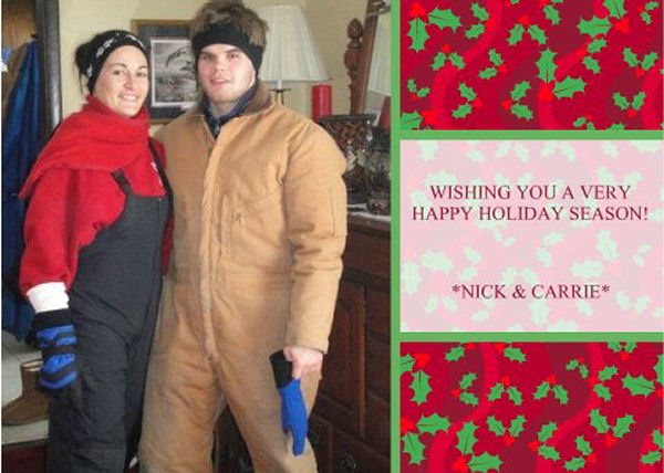 Happy Holidays from Nick Delpopolo and Carrie Chandler